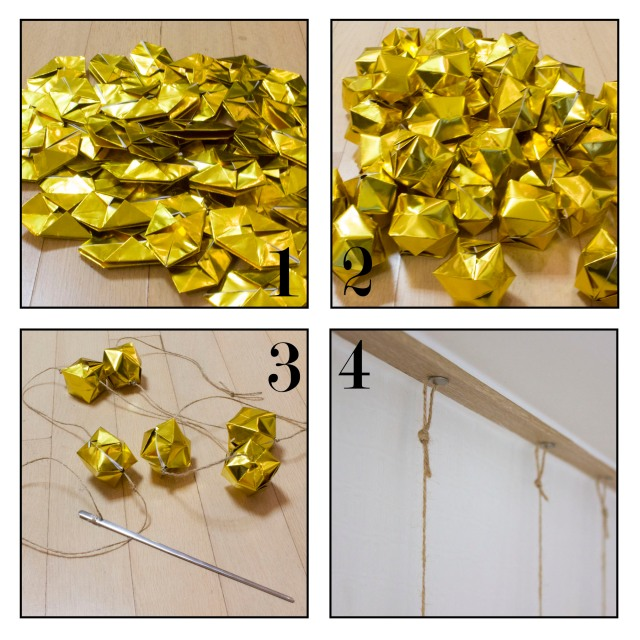 Diy Origami Garland Lusting For Lavish