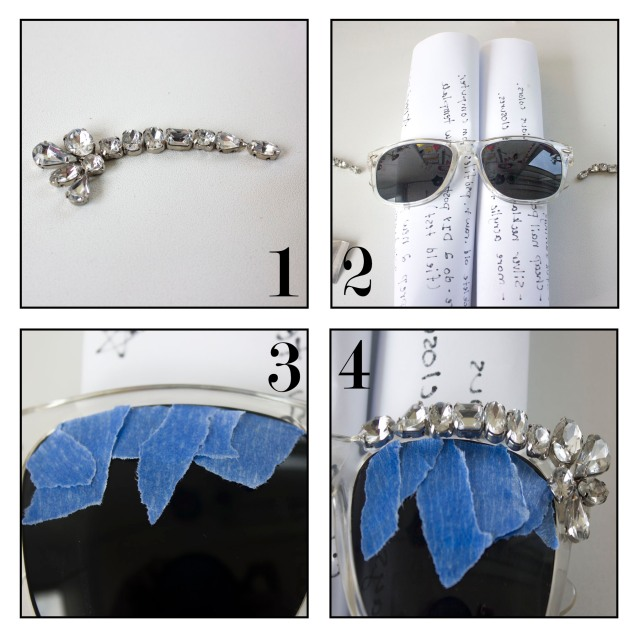 DIY| Dsquarded sunglasses steps