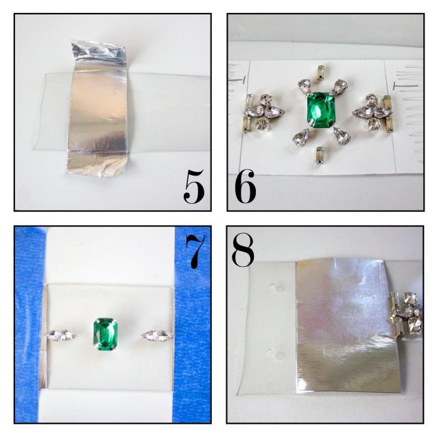 DIY| PVC Rhinestone Cuff Steps 5-8