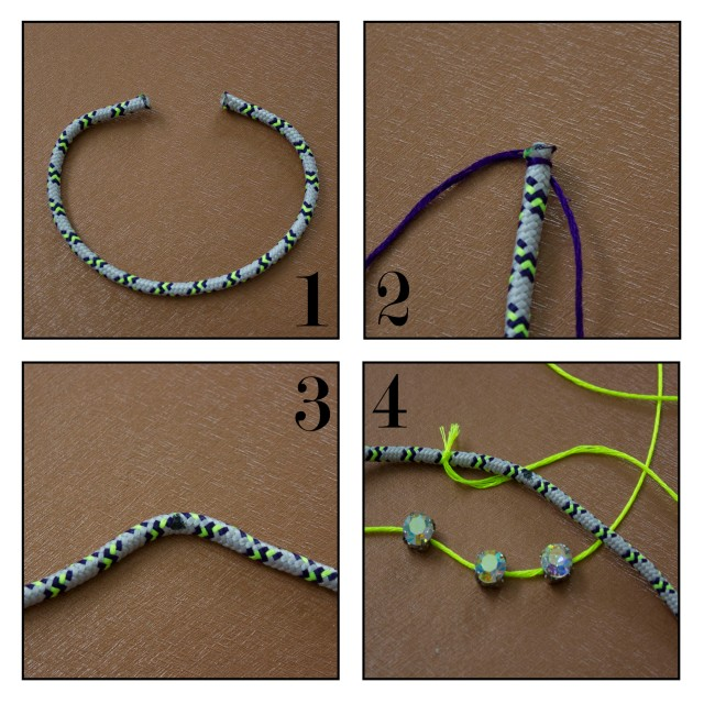 DIY|Wapped Bracelet Steps