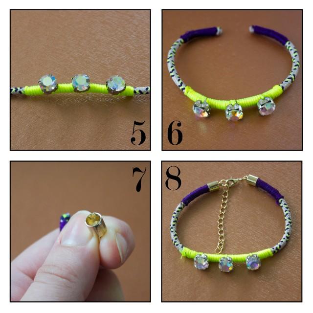 DIY|Wrapped Bracelet Steps