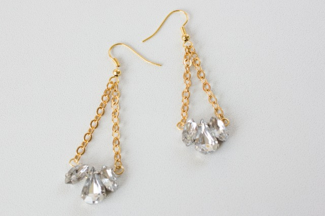 DIY| Rhinestone Earrings