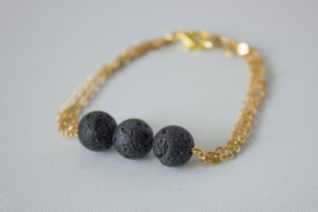 DIY Black Lava Bracelet