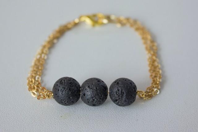 DIY| Black Lava Bracelet