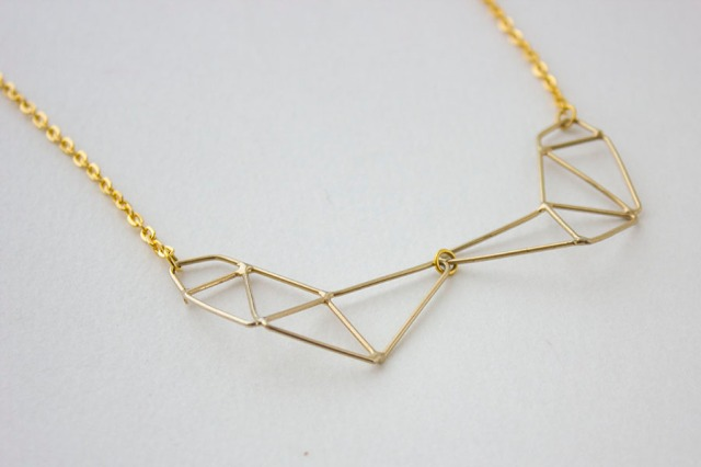 DIY| Geometric Necklace