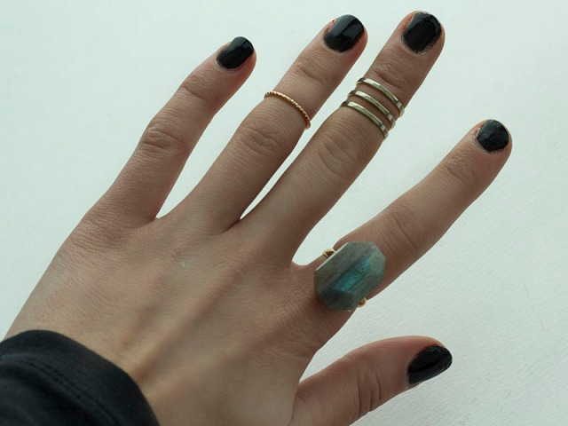 DIY| Geometric Cocktail RIng