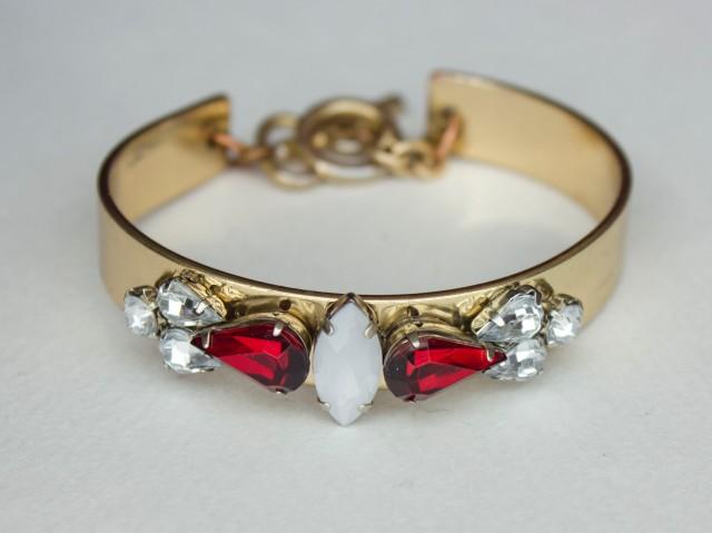 DIY|Rhinestone Embellished Bracelet