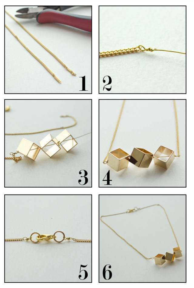 DIY| Cube Necklace Steps